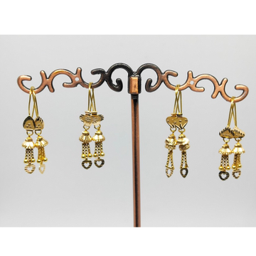 18KT gold fancy latkan earring dj-e013