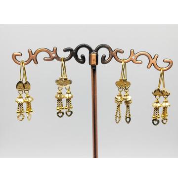 18KT gold fancy latkan earring dj-e013 by