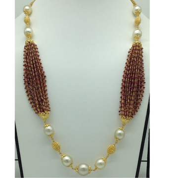 South Sea Pearls and Ruby BeedsGold Taar Necklace...
