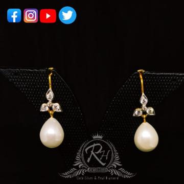 22 carat gold pearl ladies earrings RH-ER505