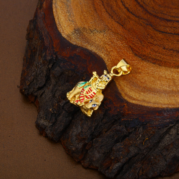 God Krishna Hollow Gold Pendant-HLP101