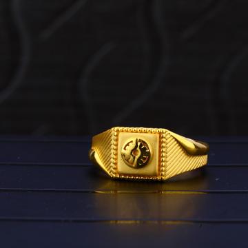 916 Gold Hallmark Plain Ring MPR68