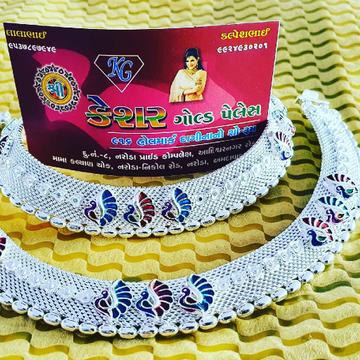 silver fancy payal by Shree Kesar Gold Palace