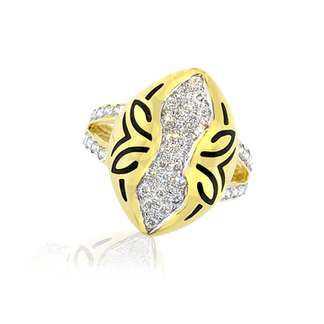 916 Gold CZ Diamond ring SO-R006