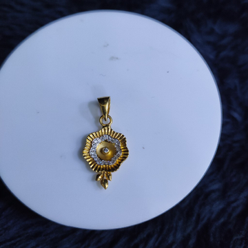 22KT/916 Yellow Gold Minni Flower Pendent  For Women