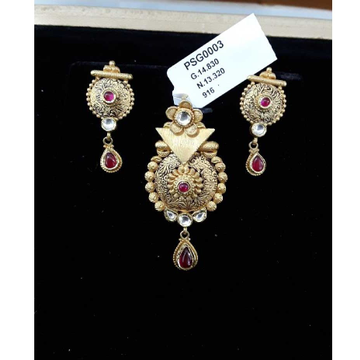 916 Antique  Fancy Gold Jadtar P.set