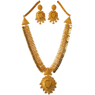 One gram gold forming necklace set mga - gfn0026