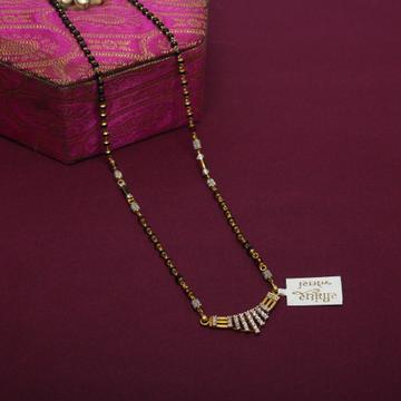 916 Hallmarked Gemstone Mangalsutra by Simandhar Jewellers