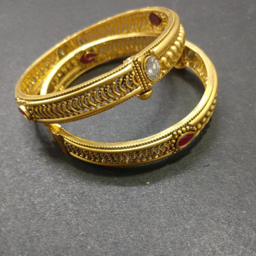 916 Gold Antique Bangles BJ-B010 by