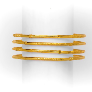GOLD STYLES 4 PIECE COPPER KADLI BANGLE