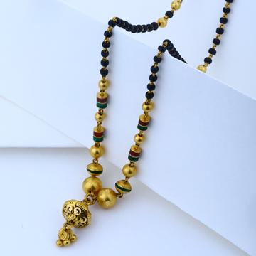 22KT Gold Hallmark new modern Short Mangalsutra