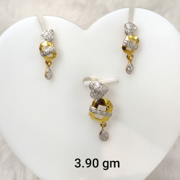 Light weight daily wear Cz pendant set by