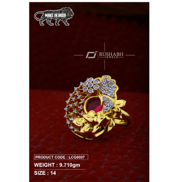 22 Carat 916 Gold Ladies heavy-cocktail ring lcg0007