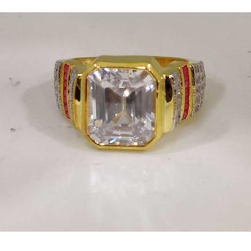 916 Gents Fancy Gold Color Ring Gr-26780