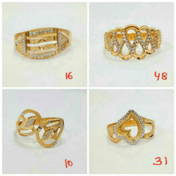 916 gold rhodium touch ring