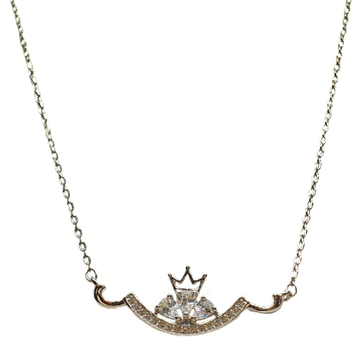 925 Sterling Silver Queen Shaped Designer Necklace Chain MGA - NKS0081
