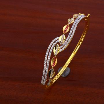 18ct Gold fancy Designer Bracelet Kada LKB70