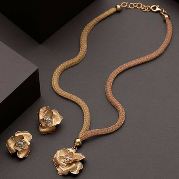 18KT yellow Gold Fancy festival Necklace set for l... by