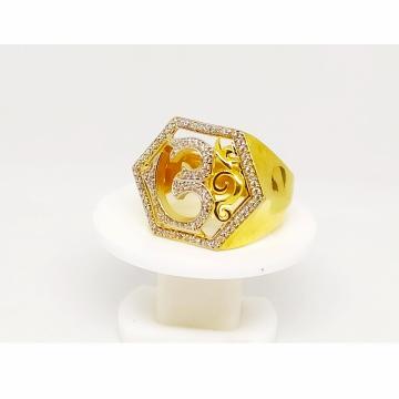 22 K Gold C Z Ring. NJ-R 0734