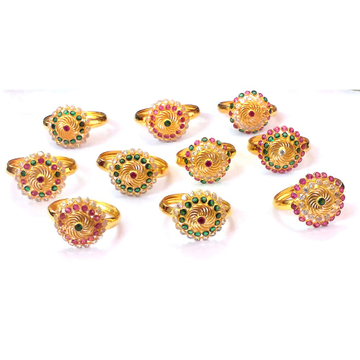 Fancy Color Stone Gold Rings NJA-R001