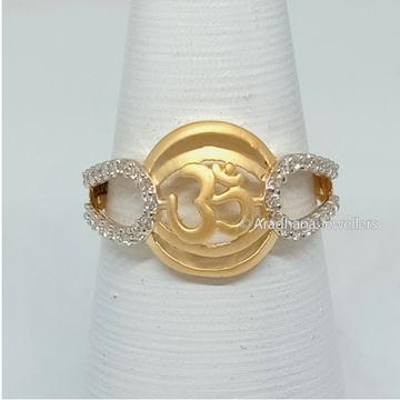22K Gold Fancy Om Design Ladies Ring