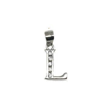 925 Sterling Silver Alphabet (Letter L) Pendant MGA - PDS0087