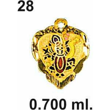916 Gold Shrinathji Pendant DC-P028