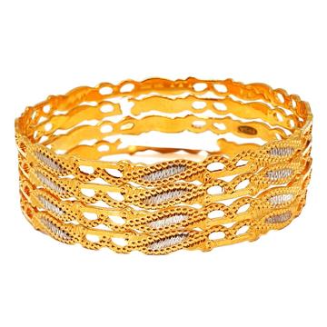 1 Gram Gold Forming Bangles MGA - BGE0379