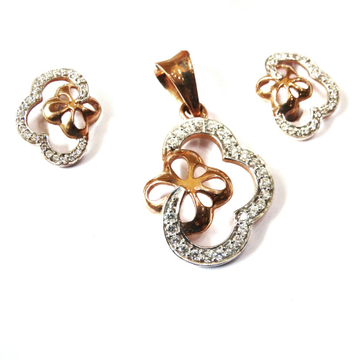 18k rose gold pendant set mga - rps005