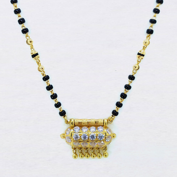 22kt gold mani moti dokia mangalsutra sk-m003 by