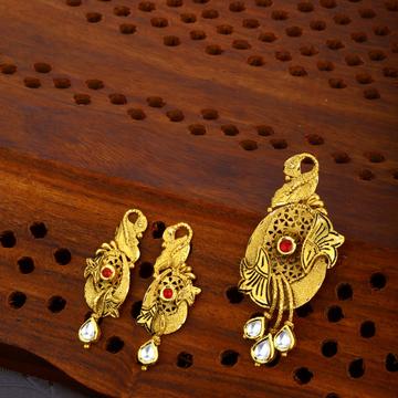 916 Gold Hallmark Stylish Pendant Set