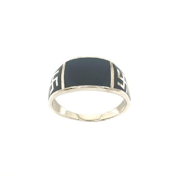 925 Sterling Silver Black Meenakari Ring MGA - GRS2144