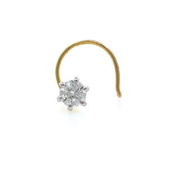18kt / 750 Yellow gold Classic Single 0.13 cts Dia...