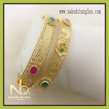 916 Gold Chakari Bangles NB-078