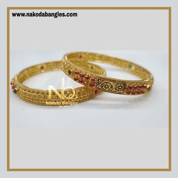 916 Gold Chakri Bangles NB - 860