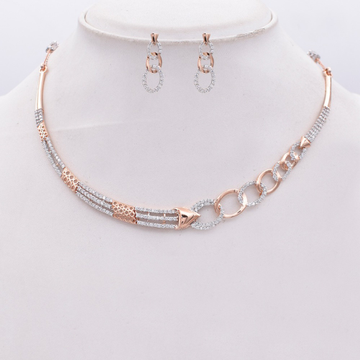 18kt rose gold plated necklace set kv-ns183
