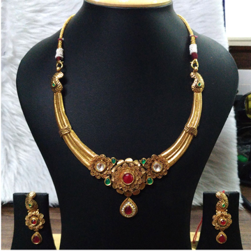 916 Gold Fancy Necklace Set