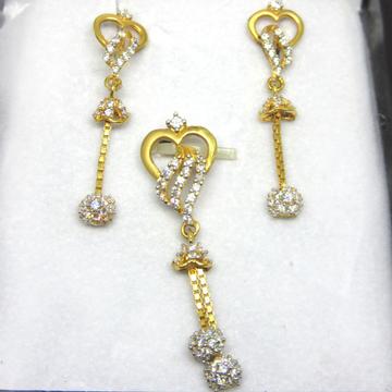 22k Gold Heart Shape pendant set