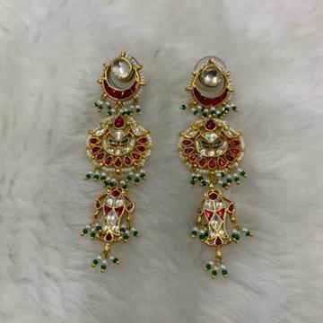Chandbali Hanging Kundan Earrings by