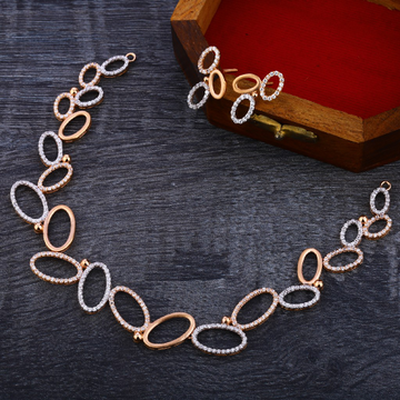 750 Rose Gold Cz Classic Necklace RN151