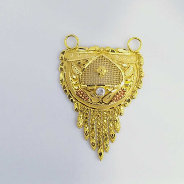 916 Gold Fancy Mangalsutra Pendants RJ-MP026