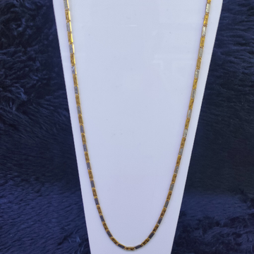 22KT/916 Yellow Gold Emray Chain With Rodiyam GCH-70