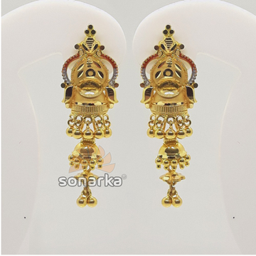 22KT Gold Hallmarked Latkan Earrings