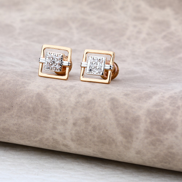 Ladies 18K Rose Gold Modern Earring -RE08
