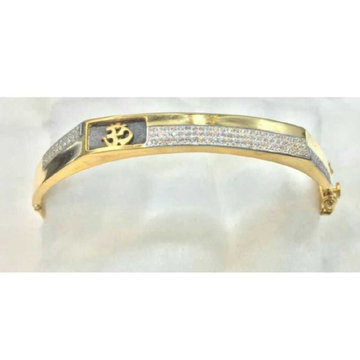 22k Gents Fancy Gold On Kada G-3716