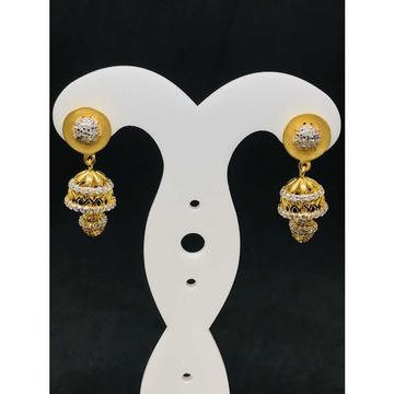 22k Ladies Fancy Gold Earring Er-60017