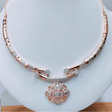 18KT Rose Gold CZ Bridal Necklace VJ-N010 by