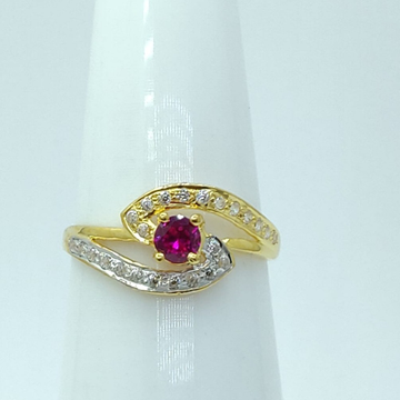 22KT gold Women Ring LMJ-777 by Lalit Manohar Jewellers