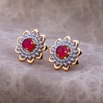 18kt Rose Gold Color Gemstone earring RE52