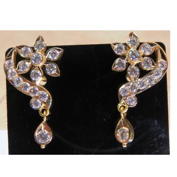 22kt gold close setting cZ Fancy Earrings for women